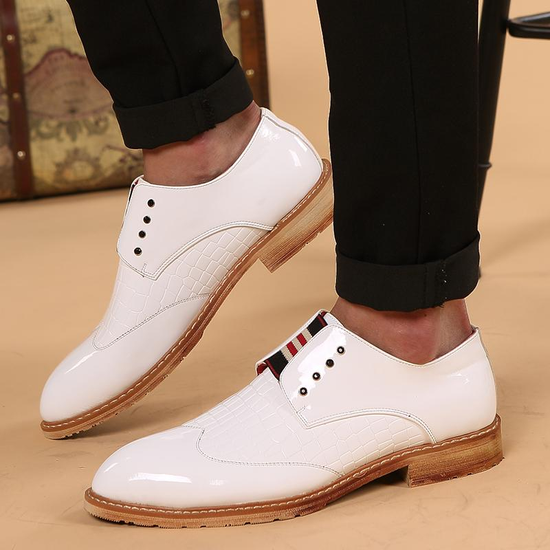 High Quality Luxury Patent Leather Pointed Toe Oxfords