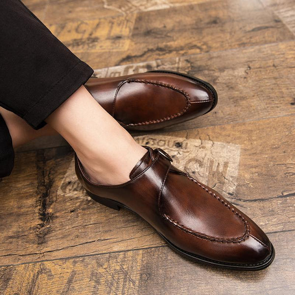 Men British Style PU Leather Formal Shoes