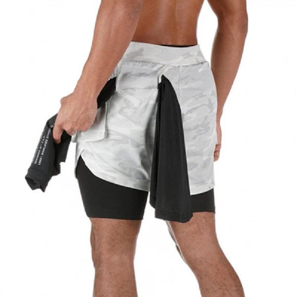 New Breathable Outdoor Fitness Double Shorts