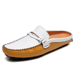 Men's PU Leather Comfortable Casual Leather Slippers