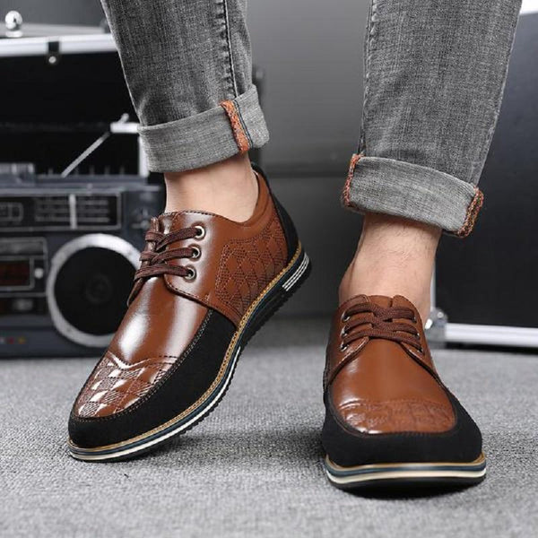 Men's Casual High-quality Leather Lace-up Shoes