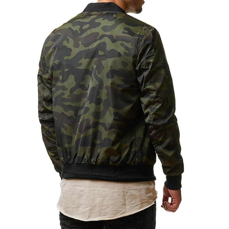 KazaMart Men Jacket-MJ4727-green back