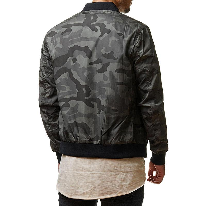 KazaMart Men Jacket-MJ4727-gray back