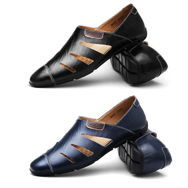 Handmade Genuine Leather Men Casual Shoes