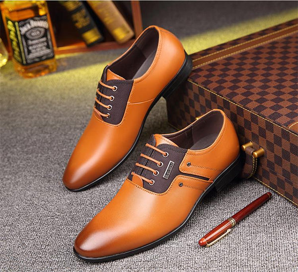 Spring Autumn Men Formal Wedding Shoes Luxury Men Business Dress Shoes Men Loafers Pointy Shoes Big Size 38-47