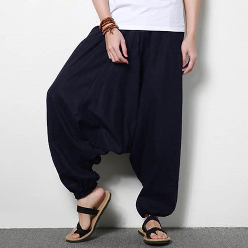 Men Baggy Linen Pants