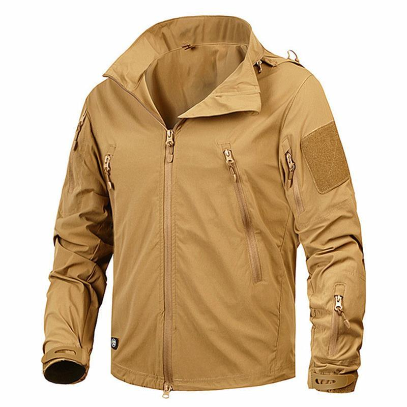 Clothing New Autumn Men's Jacket Coat Military Clothing Tactical Outwear US Army Breathable Nylon Light Windbreaker