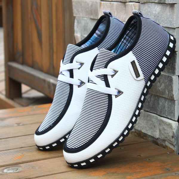 Men Casual Light Flats Leather Shoes