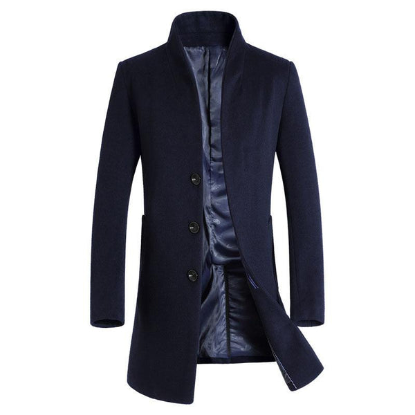 Men's Long Wool Trench Coats