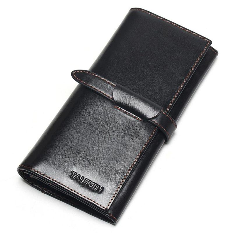 Men Coin Purse Vintage Long Wallets