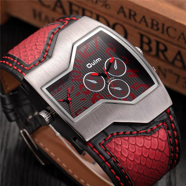 Quartz Watch Male Outdoor Sport Wristwatches Multiple Time Zone Mens Designer Watches Top Luxury Brand Men Watch