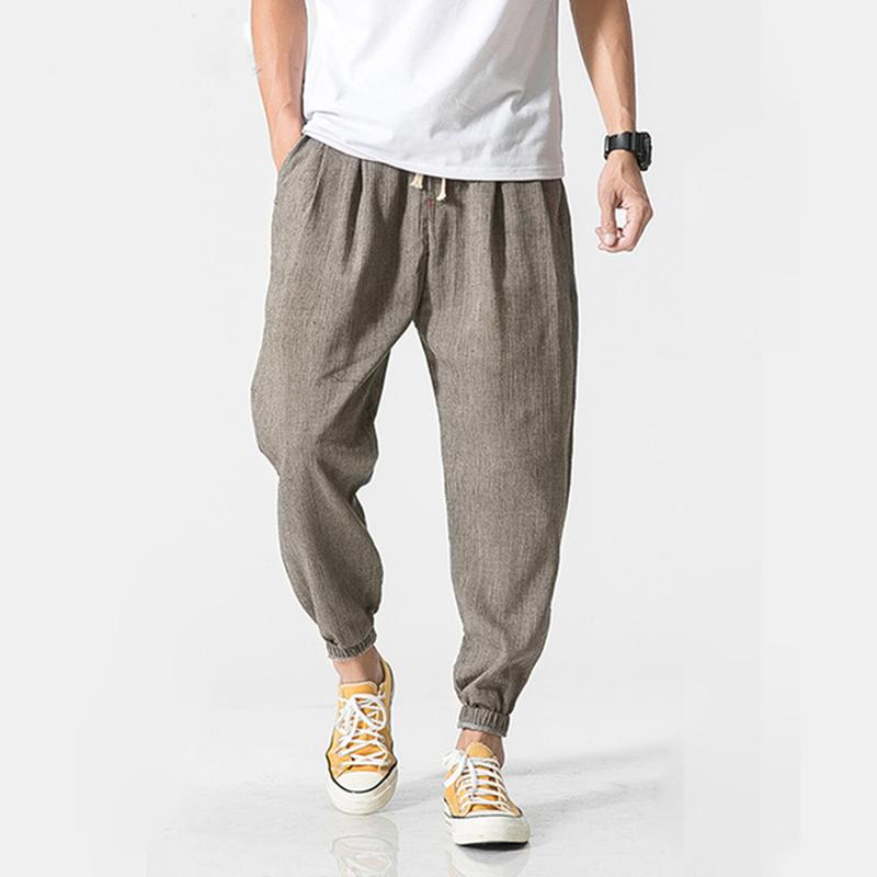 Casual Harem Pants Men Jogger Pants Men Fitness Trousers Male Chinese Traditional Harajuku 2018 Summer Clothe