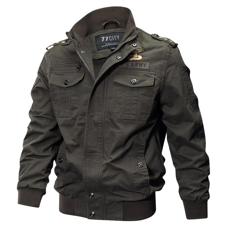 KazaMart Men Jacket-MJ0551-army green