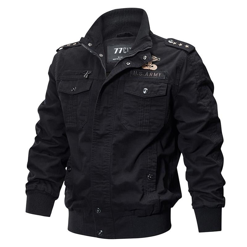 KazaMart Men Jacket-MJ0551-black
