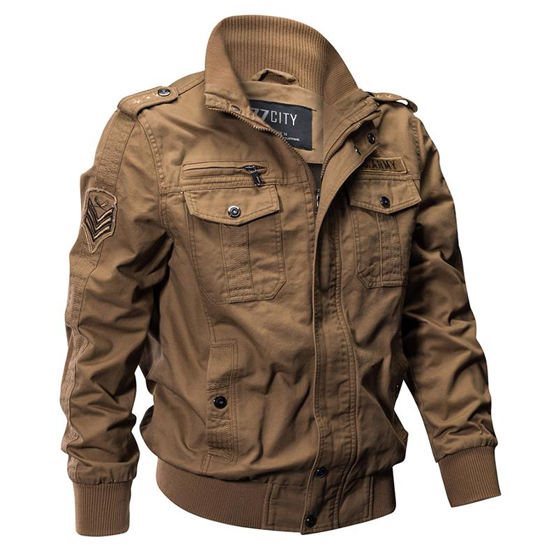 KazaMart Men Jacket-MJ0551-khaki