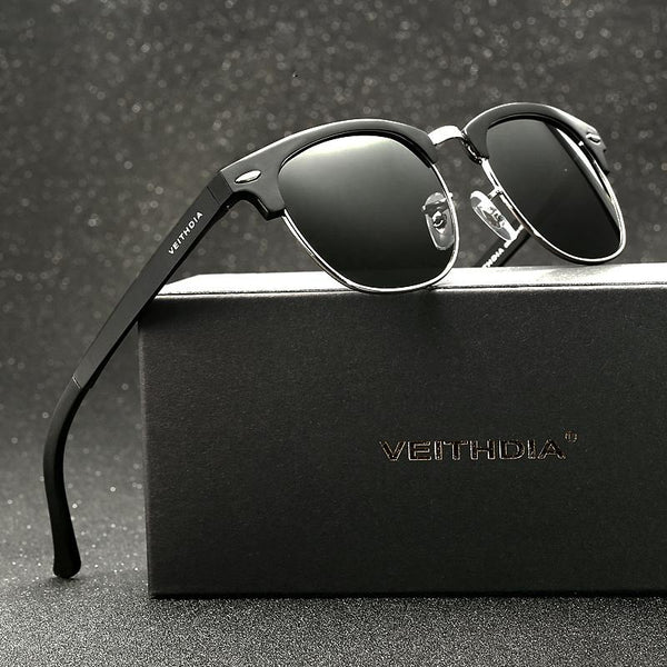 Alloy Polarized Retro Sunglasses