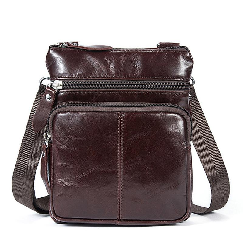 Small Messenger Bags Men Women Bag Genuine Leather Designer Crossbody Bag Shoulder Fashion Flap Casual Zipper 701