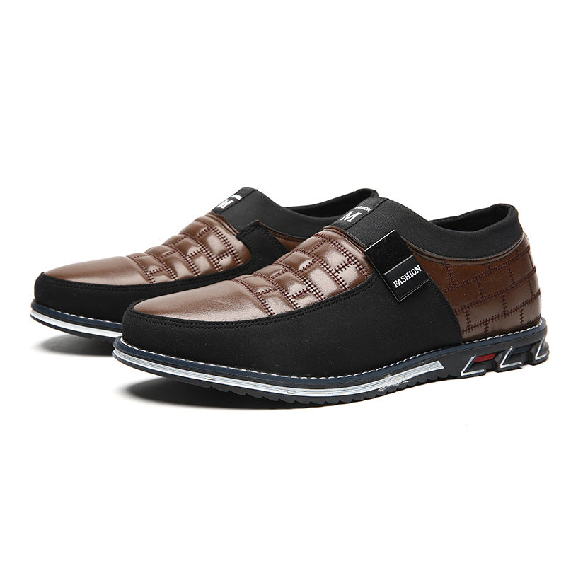 Microfiber leather British men's shoes