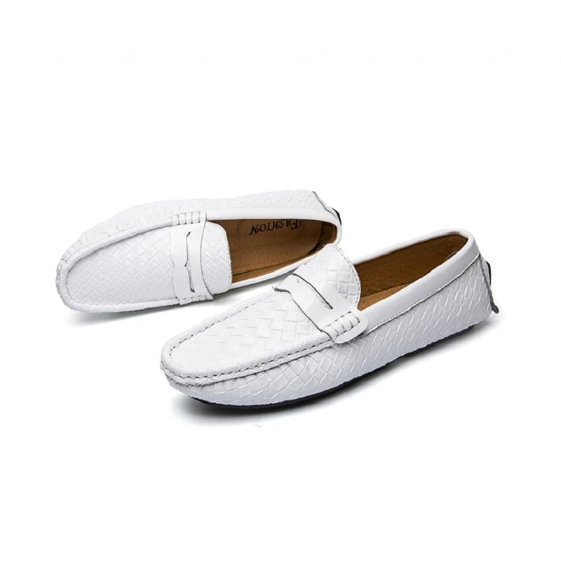 Fashion Woven Slip-on Casual Driving Shoes