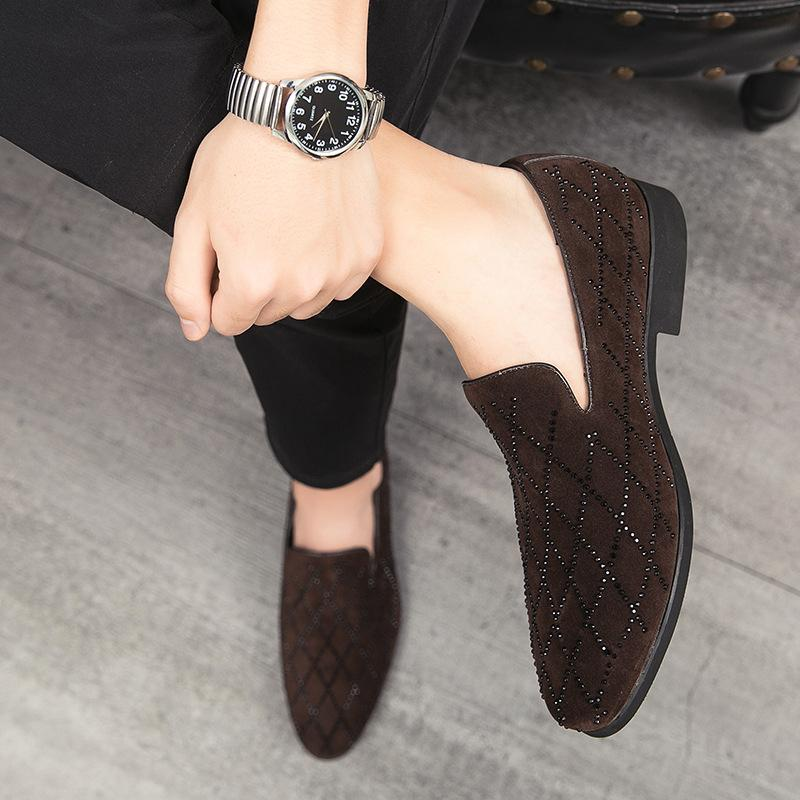 European and American Diamond-set Fashion Loafers
