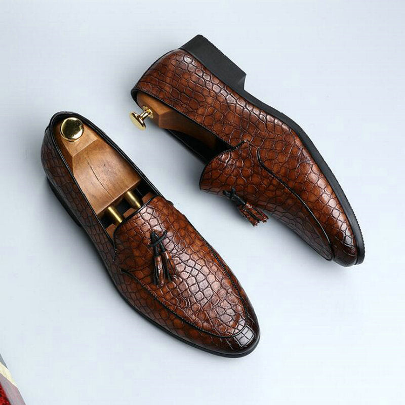 Flat Formal Handmade Oxford Leather loafers