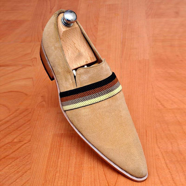 Men's Trend New Suede Pointed Slip-on Leather Shoes