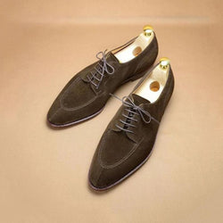 Vintage British Suede Leather Men's Casual Shoes