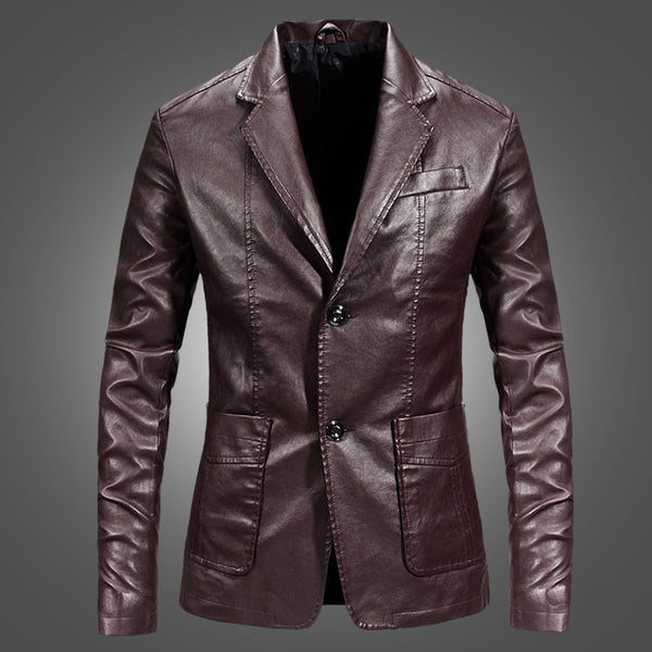 Lapel Solid Color Warm Jacket