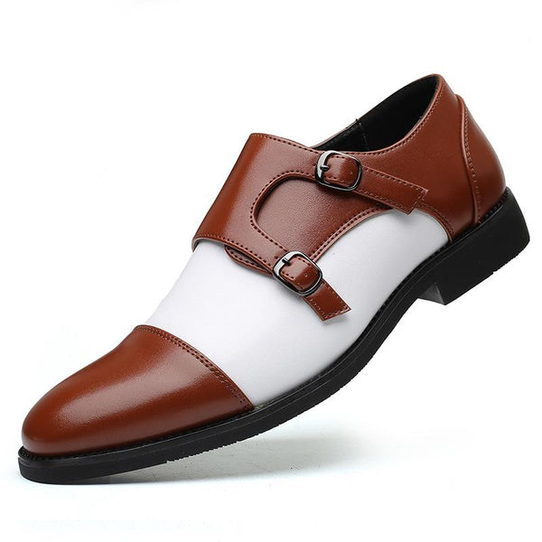 Casual fashion trend color matching business men's shoes