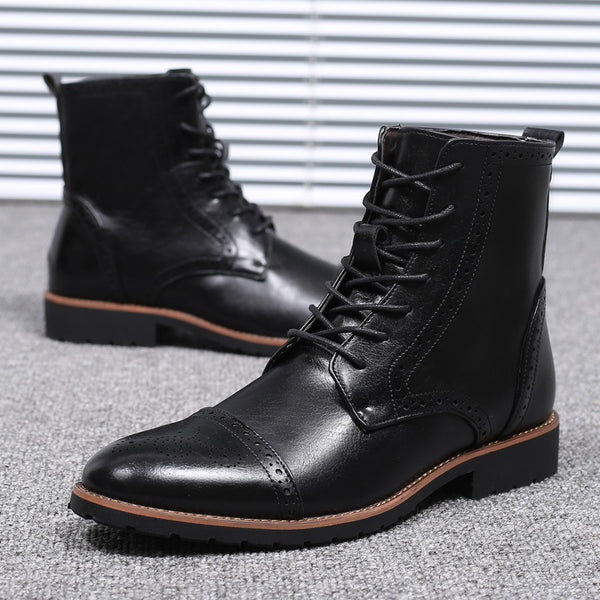 Locke Carved Trend Martin Boots