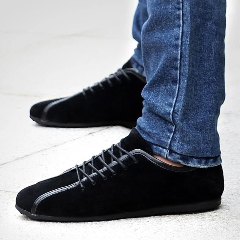 Suede Leather Autumn Winter Casual Shoes