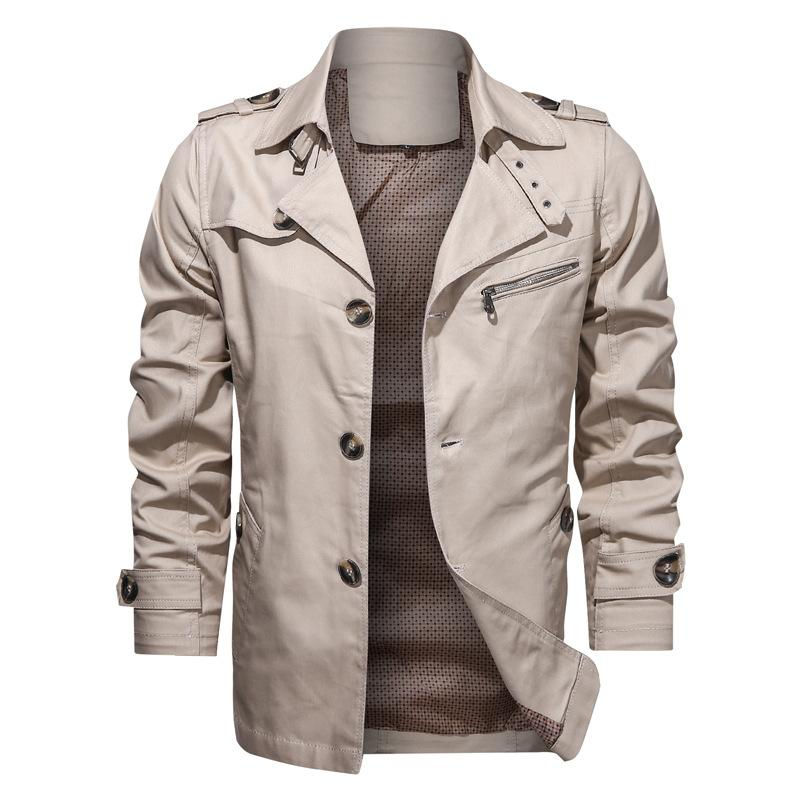 Men's Cotton Lapel Casual Jacket