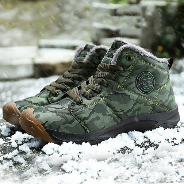 Men's Warm Inner Waterproof Snow Boots