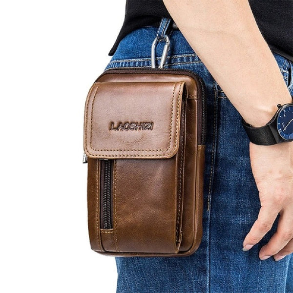 Vintage Leather Casual Crossbody Phone Waist Bag