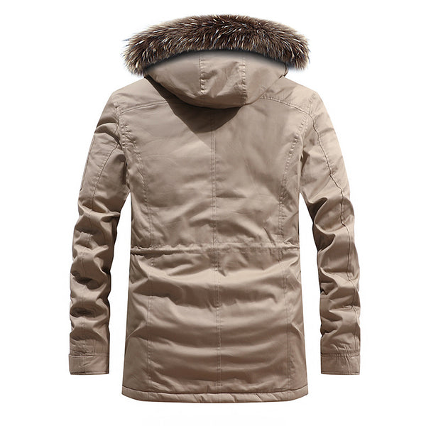 Men's Long Padded Warm Outdoor Coat