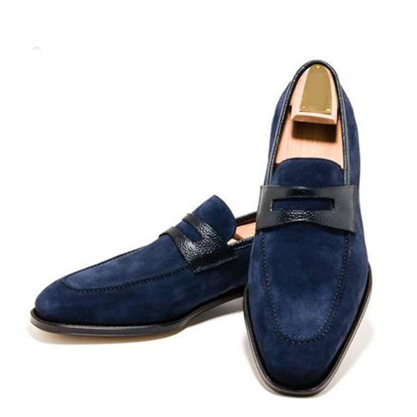 Men's Fashion Trend Suede Slip-on Leather Shoes