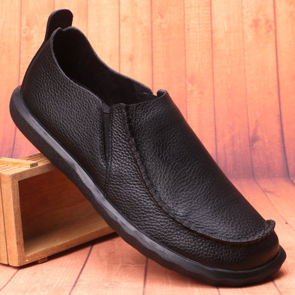 Men's Leather Soft Rubber Outer Sole Casual Loafer