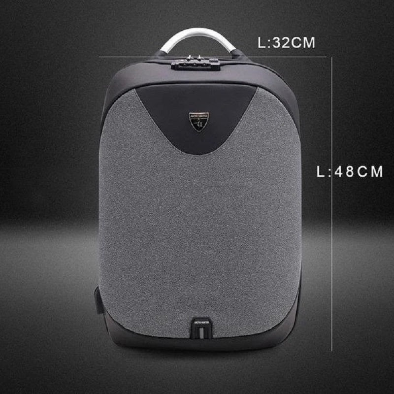 Antitheft Laptop Business Backpack with USB Charging Port