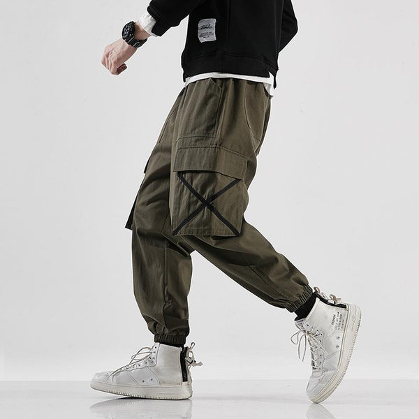 Casual Cross Pockets Jogger Ankle Banded Pants