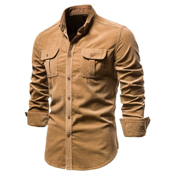 Single Breasted Cotton Business Casual Men's Shirt