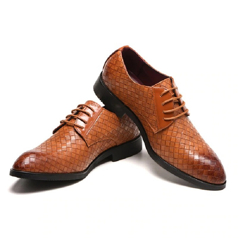 Pointed Oxford PU Leather Casual Shoes