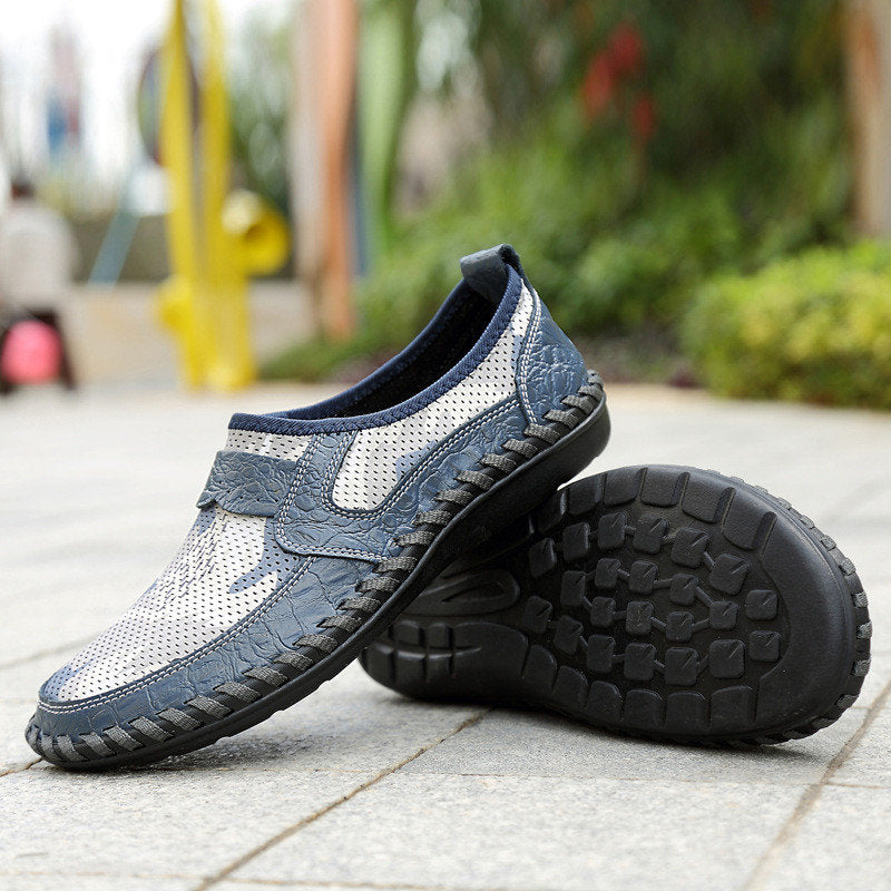 Hand Stitching Printed Fabric Splicing Breathable Casual Shoes