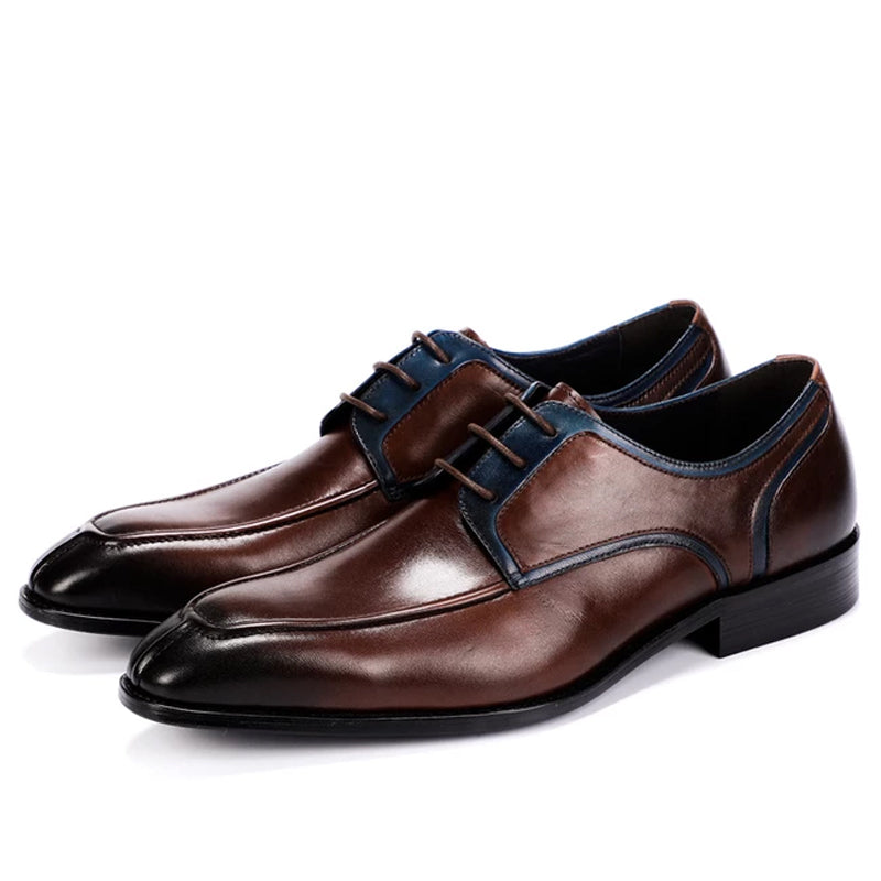 Italian Pointed Lace-up Business Dress Leather Shoes