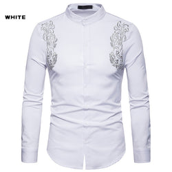 Royal Court Style Embroidered Long Sleeve Shirt