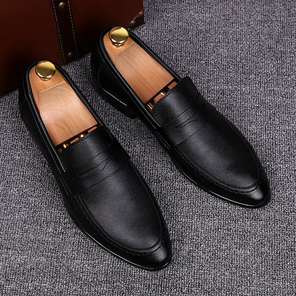 Solid Color Pointed Toe Slip on loafers