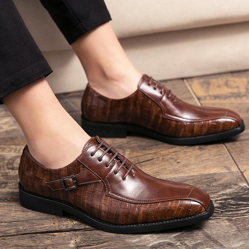 Men's Vintage Button Oxfords Wedding Loafers