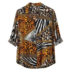 Men's Casual Leopard Shirt