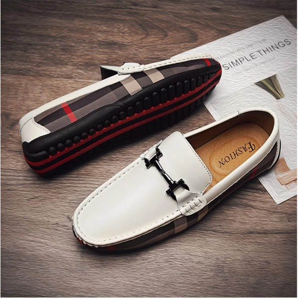 Men's Genuine Leather Soft Moccasins Loafers