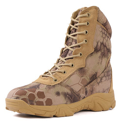 Non-slip Abrasion-resistant Python Pattern Camouflage Military Boots