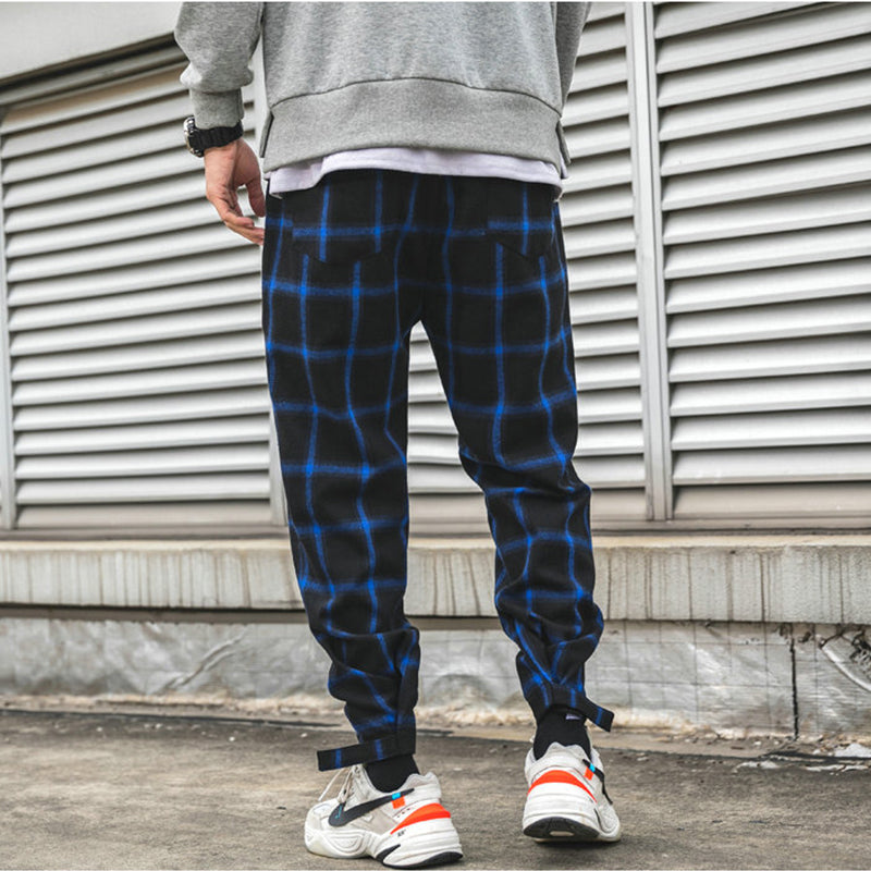 Plaid Street Joggers Cotton Pants